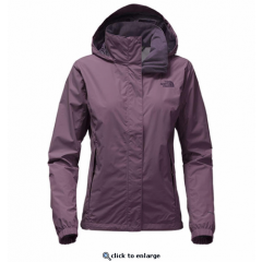 TNF Resolve Jacket Black Plum Womens