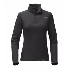 TNF Glacier 1/4 Zip Pullover Black Womens