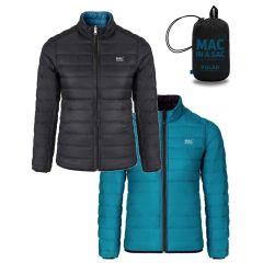 Mac Polar Down Jacket Black/Teal Womens