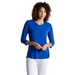 EXOF Wanderlux 3/4 Sleeve Blue Glaze Womens