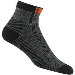 Wigwam Rebel Fusion Qtr Sock Grey
